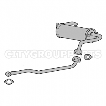 SHOGUN PININ MODELS FROM 2001 TO 2006 1.8 EXHAUST BACK BOX & CENTRE PIPE 3 DOOR